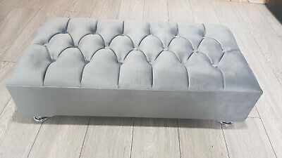 Chesterfield Plush Soft Velvet Footstool Coffee Table Stool Bed Bench Chair • 69.99£
