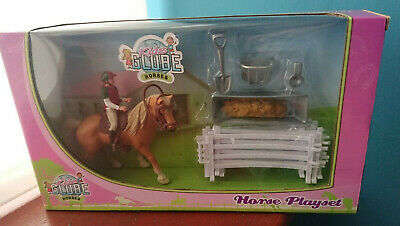 Kids Globe Horse Playset Horse Rider Fencing Accessories Horse Toy Model Pony • 12.99£