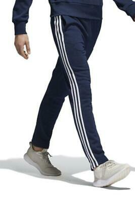 AU64.95 • Buy Adidas Mens Essential 3S Track Pant Fleece Navy/WHITE