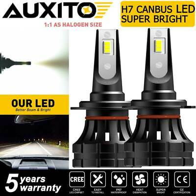 $23.59 • Buy AUXITO H7 LED Headlight Bulb Super Bright Kit High Low Beam White Z1-Plus Canbus