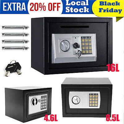 Electronic Password Security Safe Money Cash Deposit Box Office Home Safety-20% • 27.90£