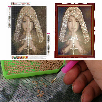 Prayer Woman Girl 5D Diamond Painting Full Drill Embroidery DIY Kits Decor Gift • 4.75£