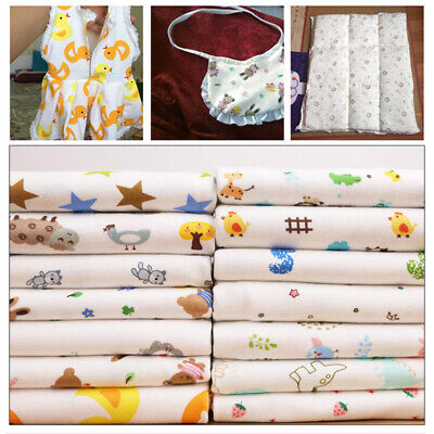 £8.49 • Buy Cotton Elastane Stretch Printed Fabric Jersey Soft Baby Costume Bedding Cloth
