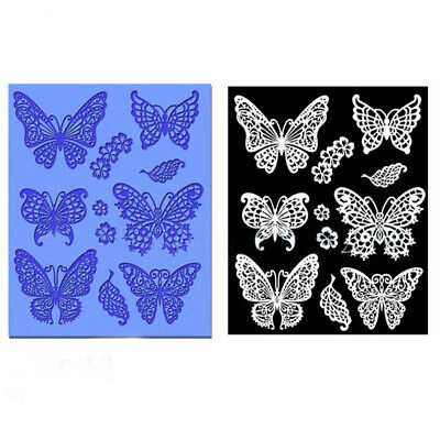 £3.25 • Buy Butterfly Lace Fondant Mould Silicone Cake Decorating Mold Baking Sugarcraft Mat