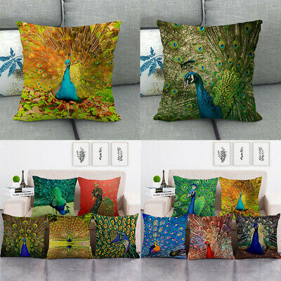Beautiful Peacock Throw Pillow Covers Custom Design Cushion Case Home Decorative • 3.05£