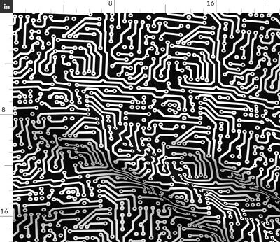 $20.50 • Buy Circuit Board Electronic Computer Science Fabric Printed By Spoonflower BTY