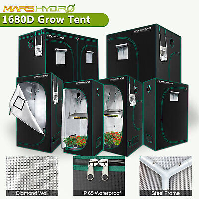 AU107.99 • Buy Mars Hydro Grow Tent Kits Hydroponic 1680D Oxford Reflective Indoor Plants Room