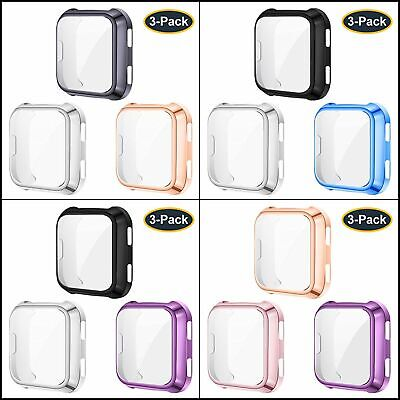 $ CDN16.04 • Buy 3 Pack Screen Protector Case Cover For Fitbit Versa,All Around Case Bumper Cover