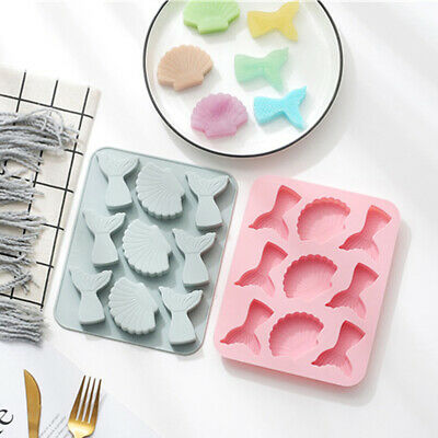 £3.49 • Buy Seashell Mermaid Tail Cake Jelly Cookies Soap Mold Chocolate Baking Candy Mould