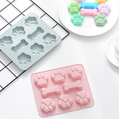 £3.45 • Buy Silicone Pet Dog Bone Paw Soap Mold Candy Chocolate Fondant Tray ICE Cube Moulds
