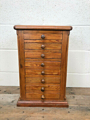 Vintage Rustic Small Pitch Pine Collectors Chest Of Drawers -Delivery Available  • 145£