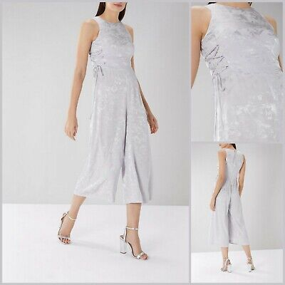 Coast Jumpsuit Size 12 | Silver Delta Jacquard Style | BNWT |£129 RRP | New! • 35.96£