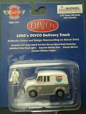 $19.95 • Buy DIVCO 1950's  MILK DELIVERY TRUCK  MELVILLE  1/87  HO   Diecast