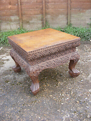 Antique Vintage Dragon Chinese Claw Eagle Leg Table Carved Anglo Indian Wooden  • 229.99£