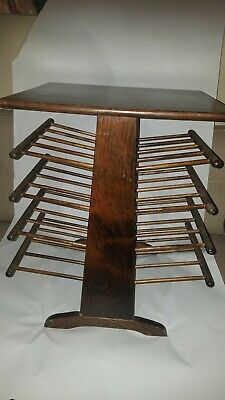 $600 • Buy Midcentury Wooden Magazine Stand With Eight Turned Spindle Shelves 23x21x15