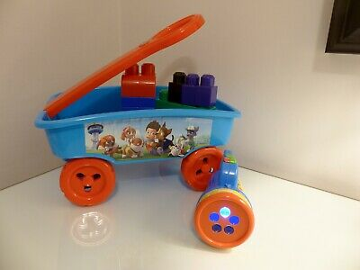 Paws Petrol Trolley With Mega Bloks & Paws Fun/Learn Projector-Age18m Brill Cond • 7.50£