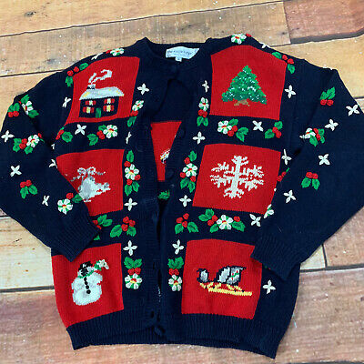 $14.99 • Buy  Christmas Holiday Ugly Sweater Cardigan Womens Small