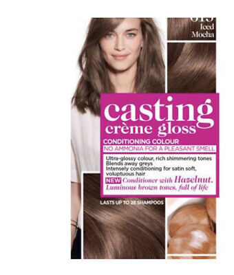 Loreal Casting Creme Gloss, Semi Permanent Brown Hair Dye, Iced Mocha (613) • 12£
