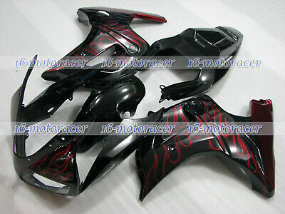 $549.90 • Buy Fairing Fit For SUZUKI 2003-2008 SV650 SV1000 Red Flames Black Injection A#02