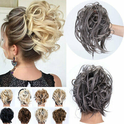 £5.99 • Buy WEDDING LARGE Curly Messy Bun Hair Piece Scrunchie Thick Hair Updo Extension UK