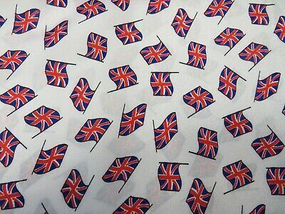White Union Jack Flag Great Britain GB Flags SILKY SATIN Material • 9.99£
