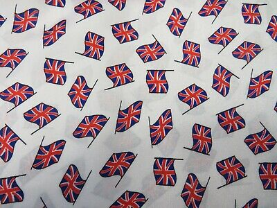 £9.99 • Buy White Union Jack Flag Great Britain GB Flags SILKY SATIN Material