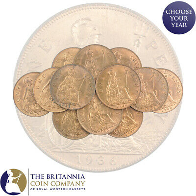 £8.99 • Buy 1936 King George V One Penny - High Grade With Lustre - Only 12 Available!