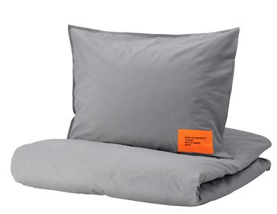 Ikea X Virgil Abloh MARKERAD Duvet Cover + Pillowcases GRAY Queen SEALED! Last • 166.67£