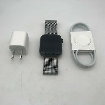 $ CDN376.22 • Buy Apple Watch Series 4 (GPS) Gray Sport 44mm Silver Milanese Loop Good Condition