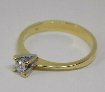 Vintage 18ct Gold Diamond Solitaire Ring. Size N. Unusual Design. Look!!!  (ncb) • 200£