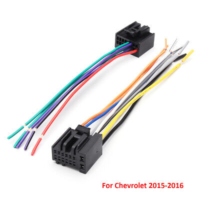 $8.54 • Buy 2Pcs Car Radio Stereo Speaker Wiring Harness Plug Cable For Chevrolet 2005-2016
