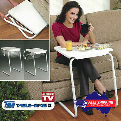 AU27.99 • Buy New Foldable Table Laptop Adjustable Tray Bed Portable Desk Mate Tv Dinner