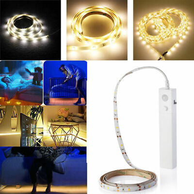 $6.47 • Buy Battery Powered LED Strip Light Wireless PIR Motion Sensor Wardrobe Cabinet Lamp