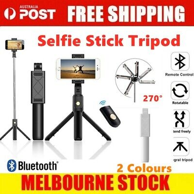 AU16.09 • Buy Unipod Selfie Stick Handheld Tripod Bluetooth Shutter For IPhone 11 Pro Samsung