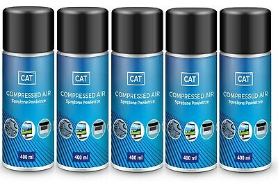 5 X 400ml Compressed Air Duster Gas Spray Cleaner MAX POWER 9 Bar Can • 15.79£