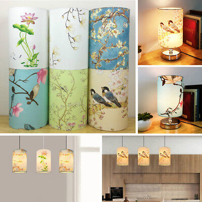 £9.99 • Buy Vintage Small Lampshade Floral Bird Lamp Shade Table Ceiling Light Cover Decor
