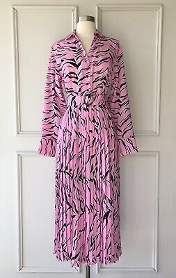 AU99.95 • Buy | COUNTRY ROAD | Print Pleat Shirt Midi Dress Pink | NEW| $229 | SIZE:10,14,16 |