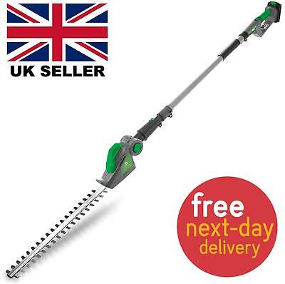 £79.99 • Buy Gracious Gardens 18V Cordless Long Reach Electric Hedge Trimmer Cutter Pole