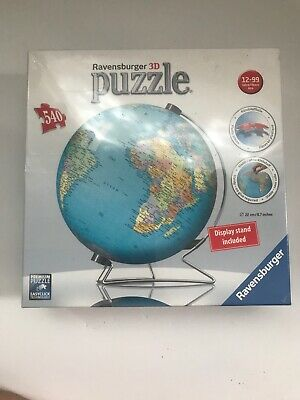 $33.99 • Buy Ravensburger, 3D Puzzleball Globe, 540 Pieces, Puzzle, New (display Included)
