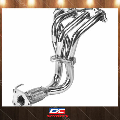$510.99 • Buy DC Sports 4-2-1 Polished Header Two Piece For 2003-2007 Honda LX EX 2.4 CARB