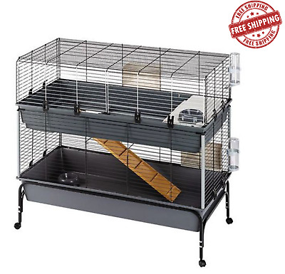 £123.95 • Buy 2-Tier Small Pet Cage 120 Small Pets Including Guinea Pigs & Dwarf Rabbits *NEW*