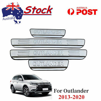 AU26.99 • Buy 4Pcs Car Door Sill Protector Trim Scuff Plate For Mitsubishi Outlander 2013-2019