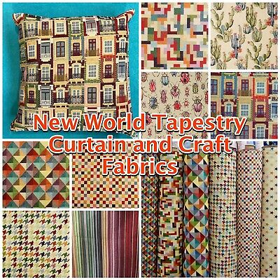 £13.65 • Buy Heavy Tapestry Multicoloured Curtain Upholstery Fabric Chatham Glyn Material