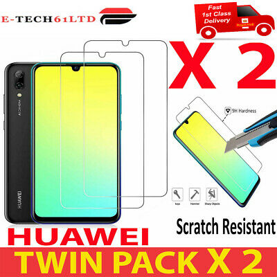 2 X Huawei P Smart P20 Pro P30 Lite 2019 Tempered Glass Screen Protector Uk Ship • 2.29£