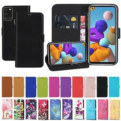 For Samsung Galaxy A01 A41 A21 A31 A21S PU Leather Wallet Flip Stand Case Cover • 4.99£