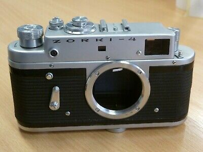 ZORKI 4 35mm Film LEICA Register 39mm Rangefinder Body Only Working Russian 1973 • 29.99£