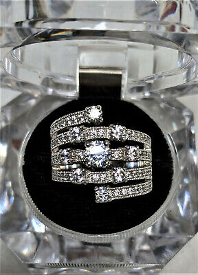 $34.99 • Buy  Charles Winston For Bella Luce (r) 3.20ctw Rhodium Over Silver Ring Sz 8