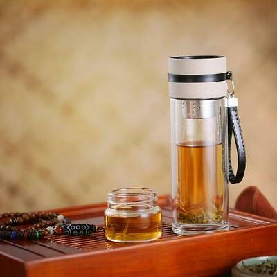 Glass Water Bottle With Tea Infuser • 21.51£