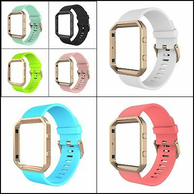 $ CDN23.30 • Buy Sport Band With Meatl Frame For Fitbit Blaze Smartwatch Sport,Silicone WristBand
