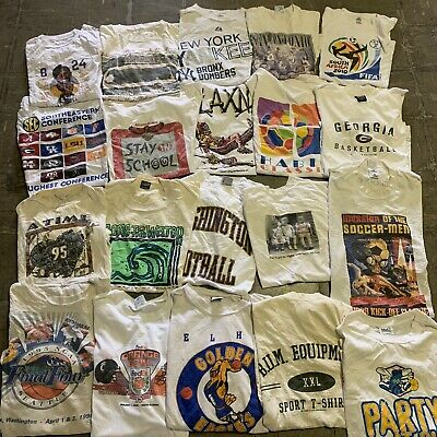 $ CDN271.54 • Buy Vintage Wholesale T Shirt 20 Lot Graphic 00s Bundle Sports NBA NCAA NFL MLB